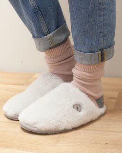Aurora Wooly Sheepskin Slipper Mule