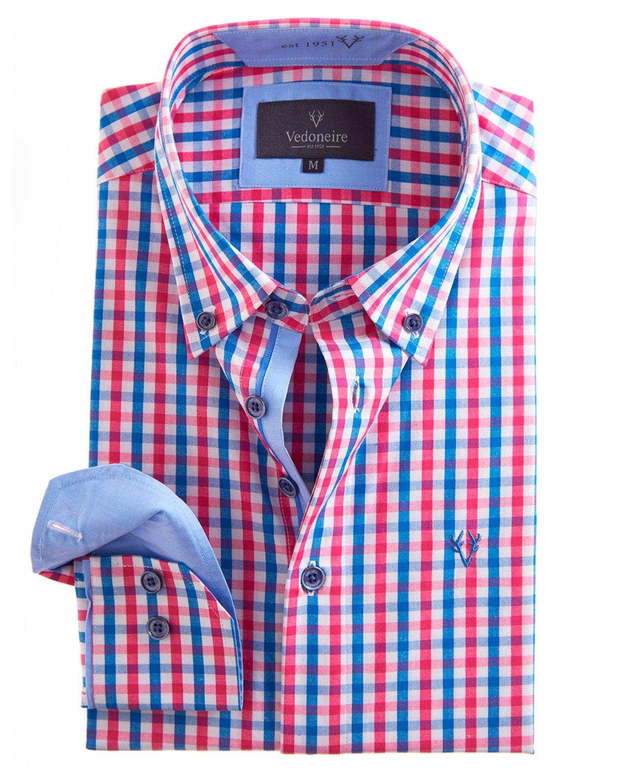 Soft Peach Finish Plaid Cotton Shirt