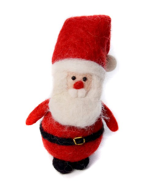 Father Christmas with Folded Hat