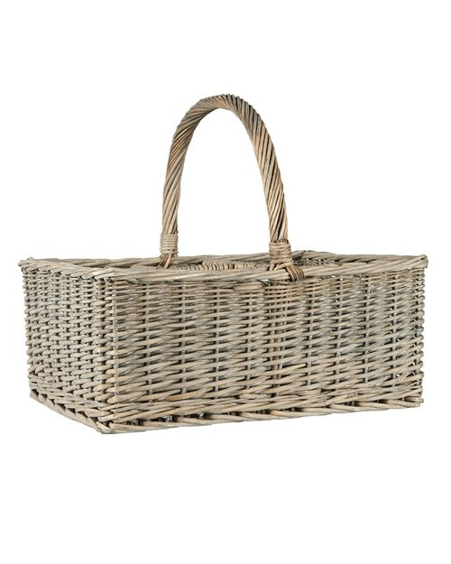 Willow Wicker Picnic Basket with Handle