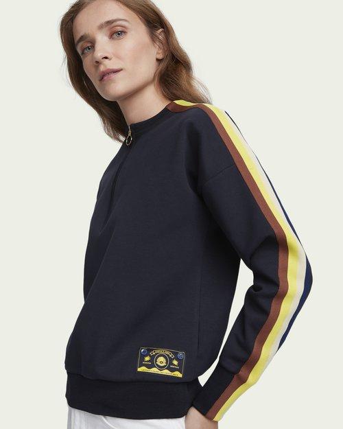 Half-Zip Crew Neck Sweatshirt