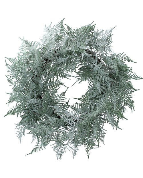 Two Tone Green Fern Wreath