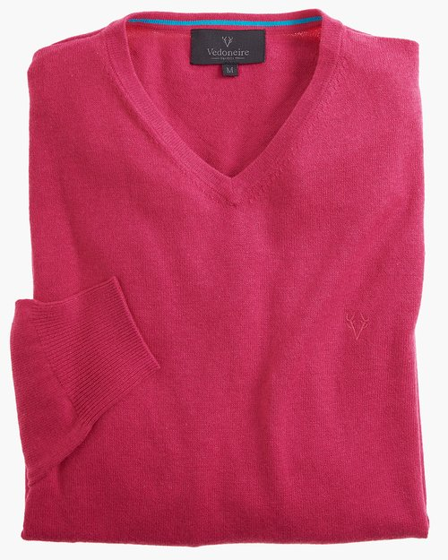 Fine Gauge Cotton V-neck Jumper
