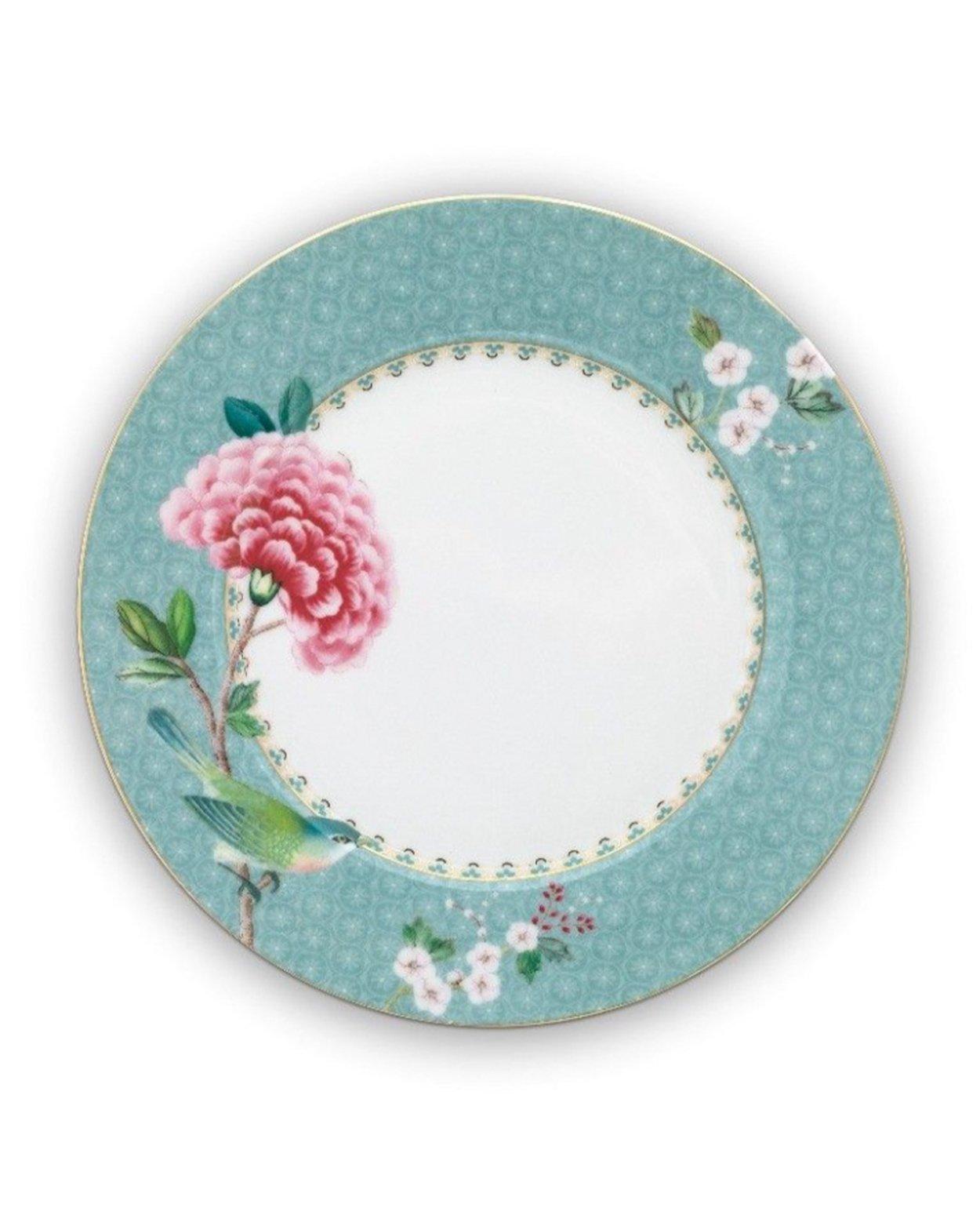 Blushing Birds Plate - Blue - 21cm