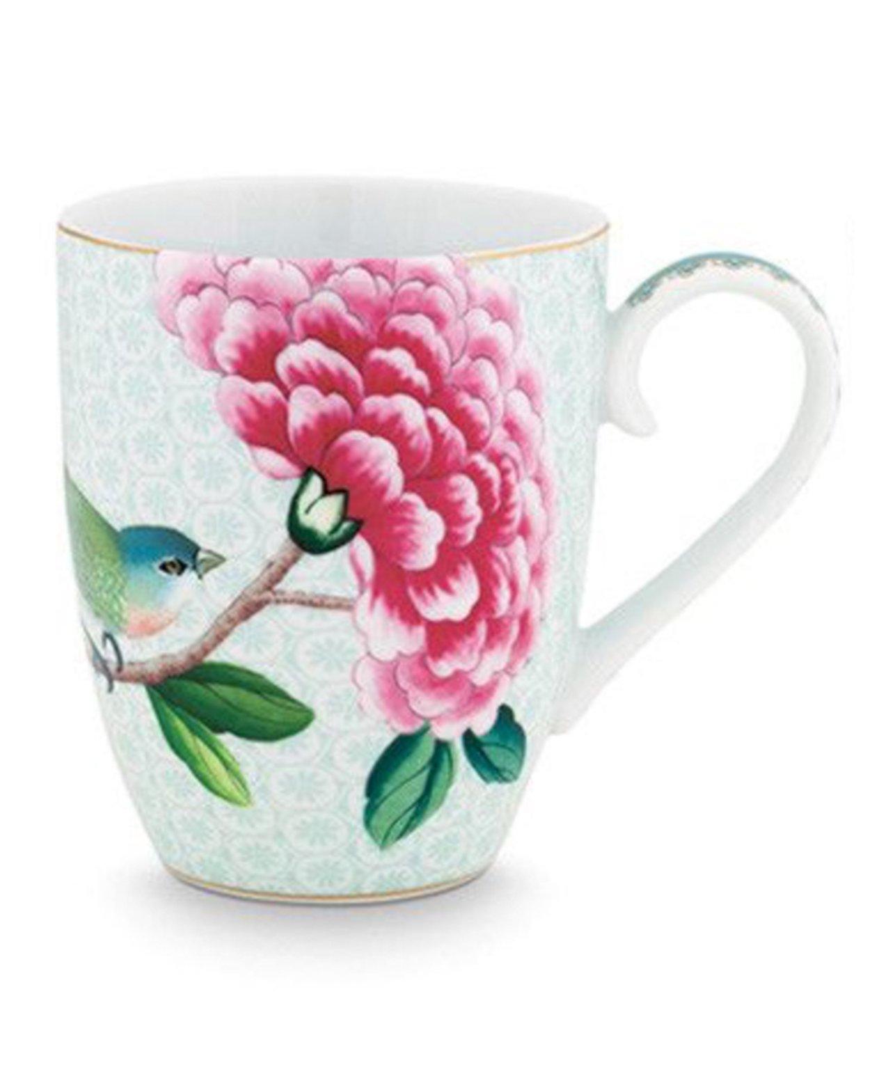 Blushing Birds Mug - White - Large
