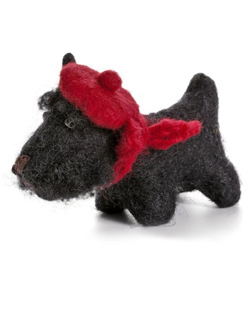 Black Scottie Dog with Tam o' Shanter