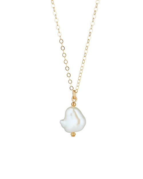 14kt Gold Filled Baroque Pearl Pendant