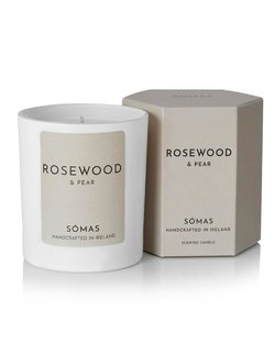 Rosewood and Pear Scented Soy Candle