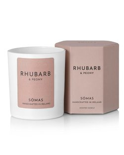 Rhubarb and Peony Scented Soy Candle