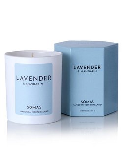 Lavender & Mandarin Scented Soy Candle