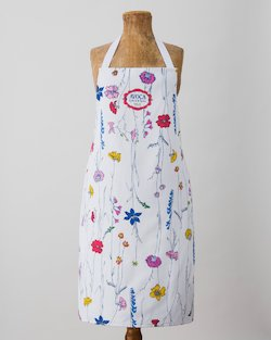 Tall Floral Apron
