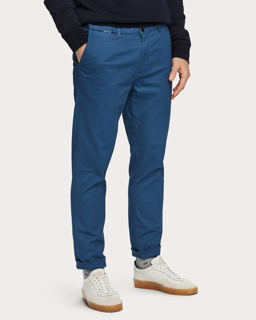 Stuart Classic Chinos - Worker Blue