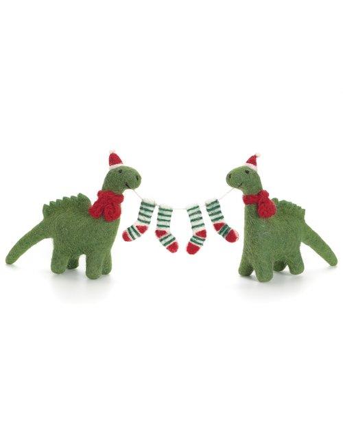 Diplodocus Pair with Stockings