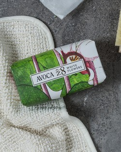 Avoca No 8 Soap White Flowers 150g