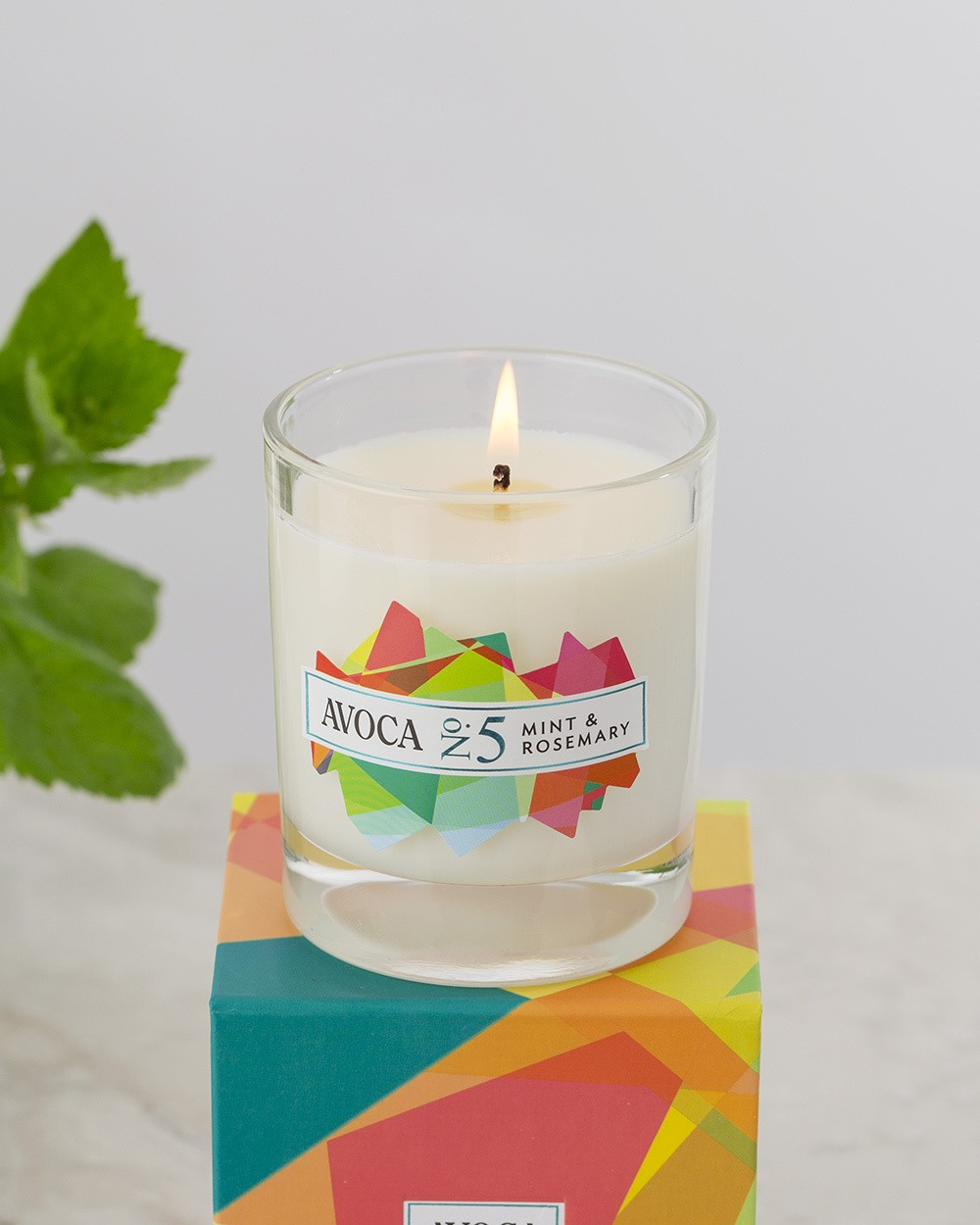 Mint and Rosemary Scented Candle