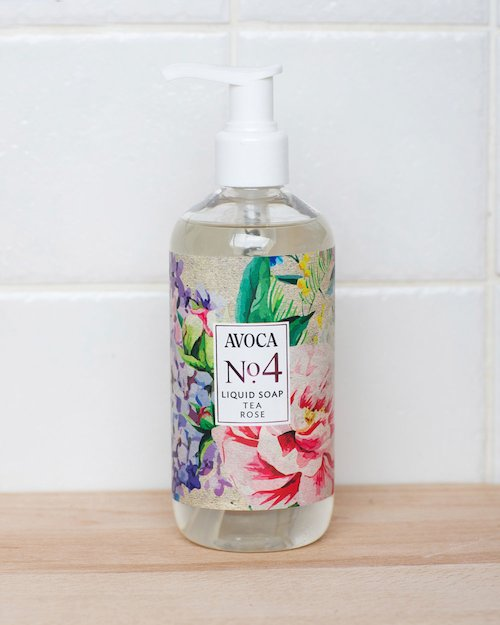 No. 4 Tea Rose Liquid Soap
