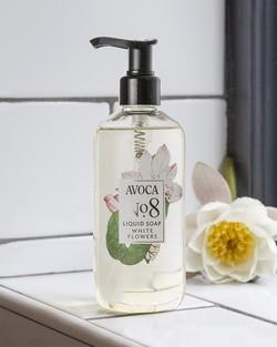 Avoca No 8 Liquid Soap - White Flowers