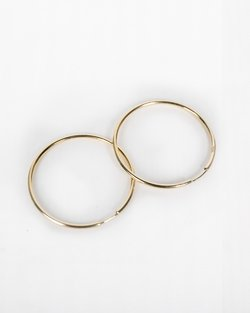 9kt Gold Large Hoops
