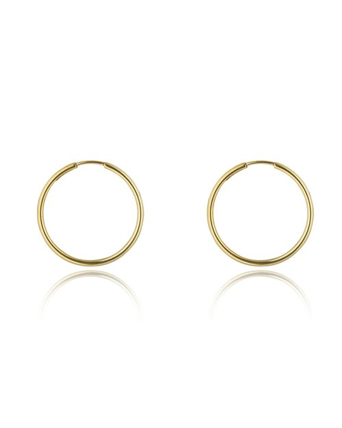 9kt Gold Medium Hoops