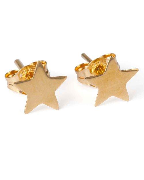 9kt Gold Star Stud Earrings