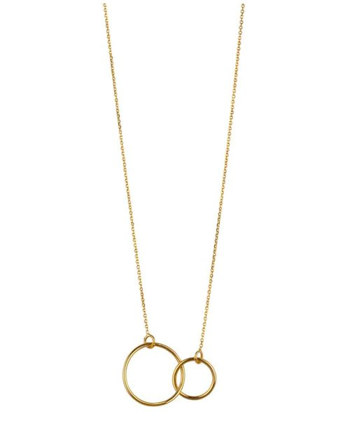 9kt Gold Double Circle Necklace