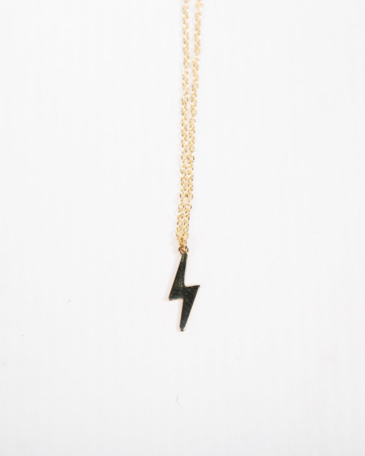 9kt Gold Lightning Bolt Pendant