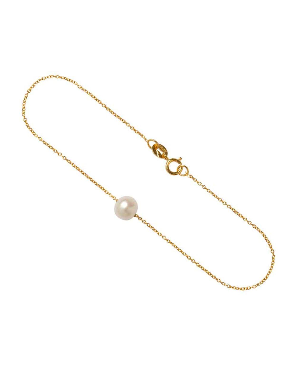9kt Gold Floating Pearl Bracelet