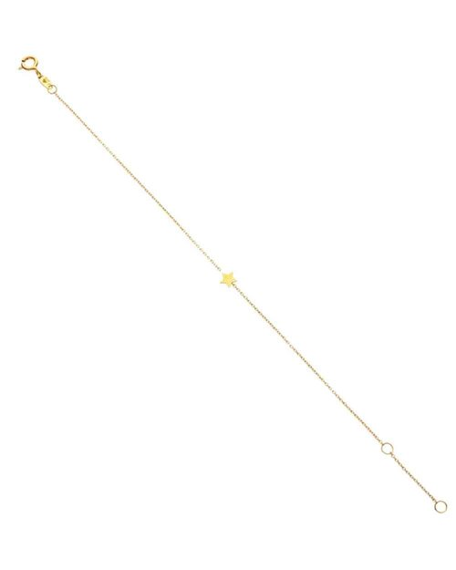 9kt Gold Floating Star Bracelet