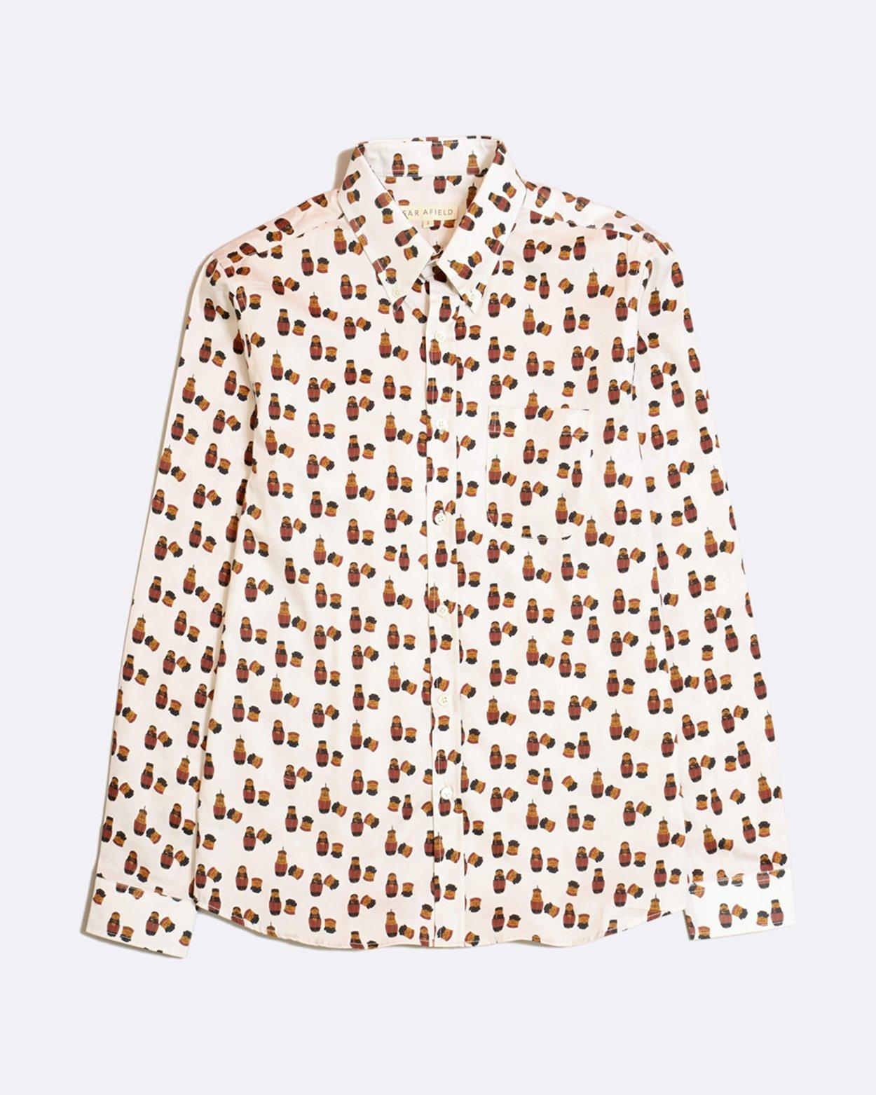 Matryoshka Mod Button Down Shirt