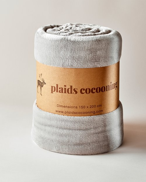Cosy Bicolour Grey Blanket