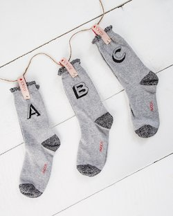Alphabet Ankle Socks