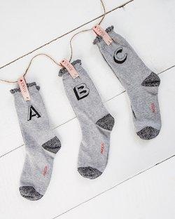 Alphabet Ankle Socks