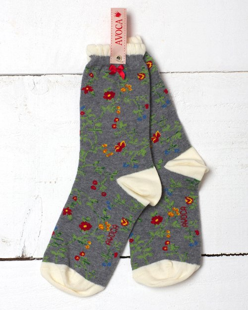 Trailing Flower Ankle Sock