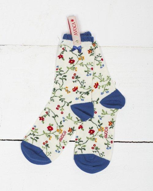 Trailing Flower Ankle Sock