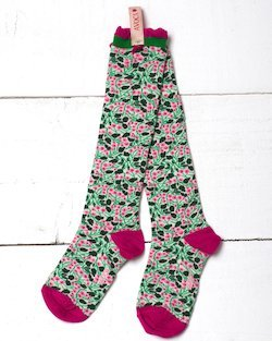 Dorothy Flower Knee Sock