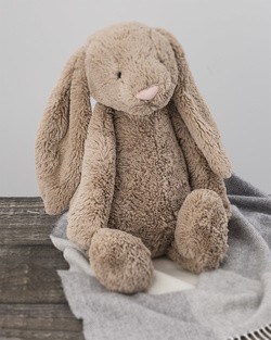 Large Bashful Bunny in Beige