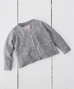 Cashmere Blend Baby Girl's Cardigan
