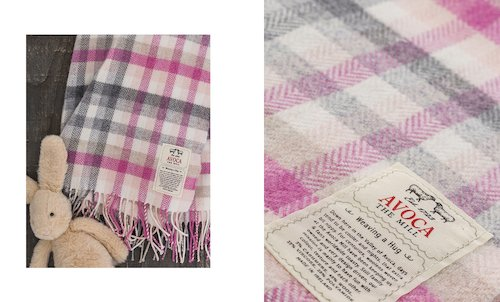 Cashmere Blend Baby Blanket in Pink