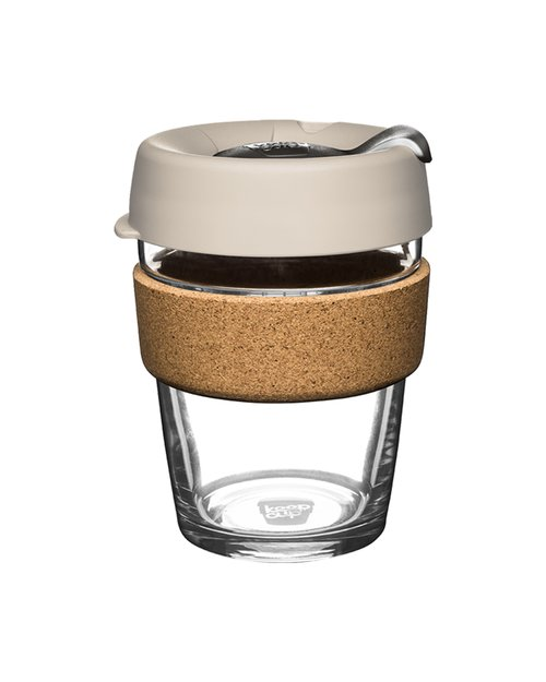 12oz Brew Cork Latte Keepcup - Silver Brown