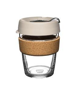 12oz Brew Cork Latte Keep Cup - Silver Brown