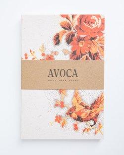 Orange Bird Lined Notebook