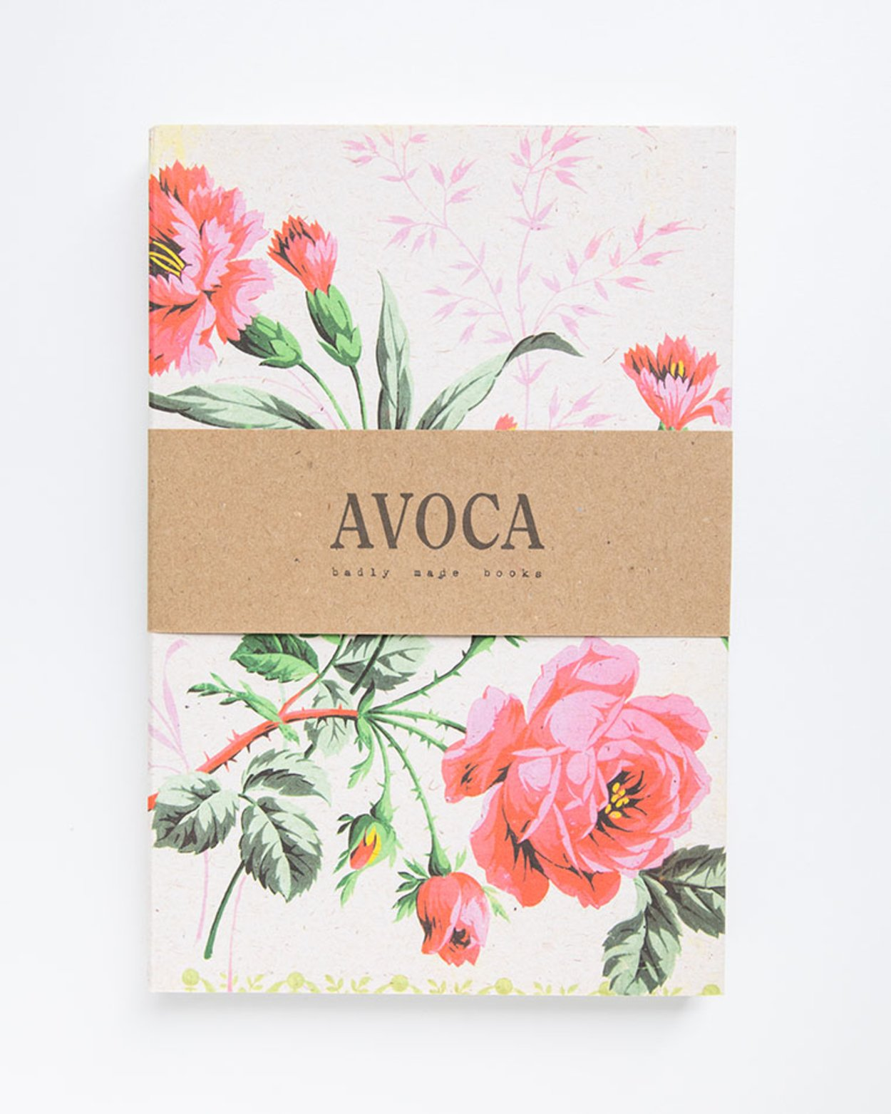 Pink Rose Lined Notebook