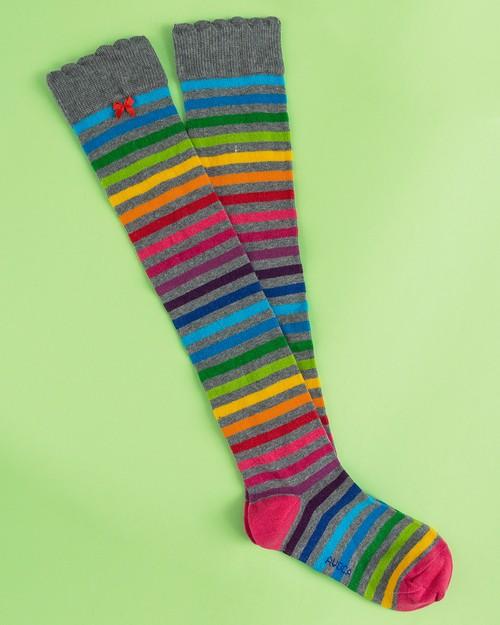 Rainbow Stripe Knee Socks