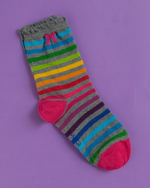 Rainbow Stripe Ankle Socks