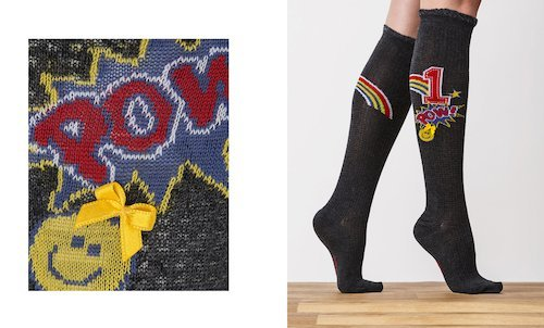 Thermal Cartoon Print Knee Socks