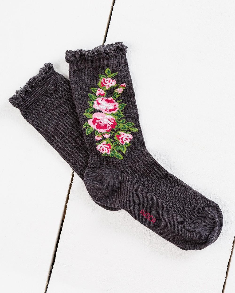 Thermal Flower Ankle Socks