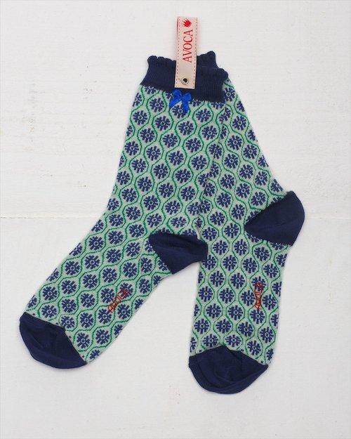 Flower Trellis Ankle Sock