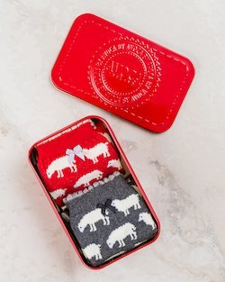 Fluffy Sheep Knee Socks in Gift Tin
