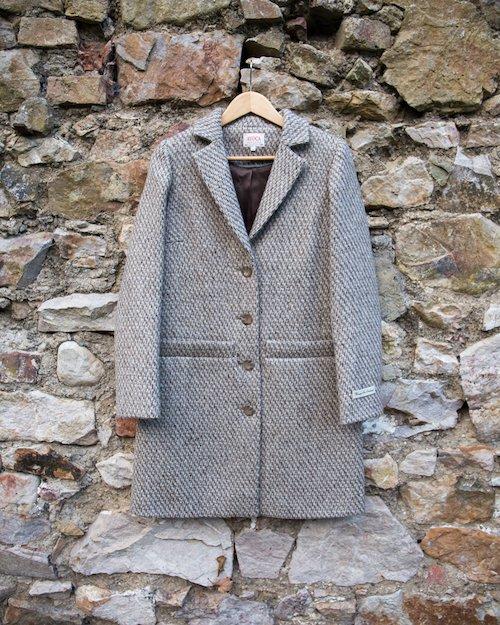 Boyfriend Cobble Coat in Teal