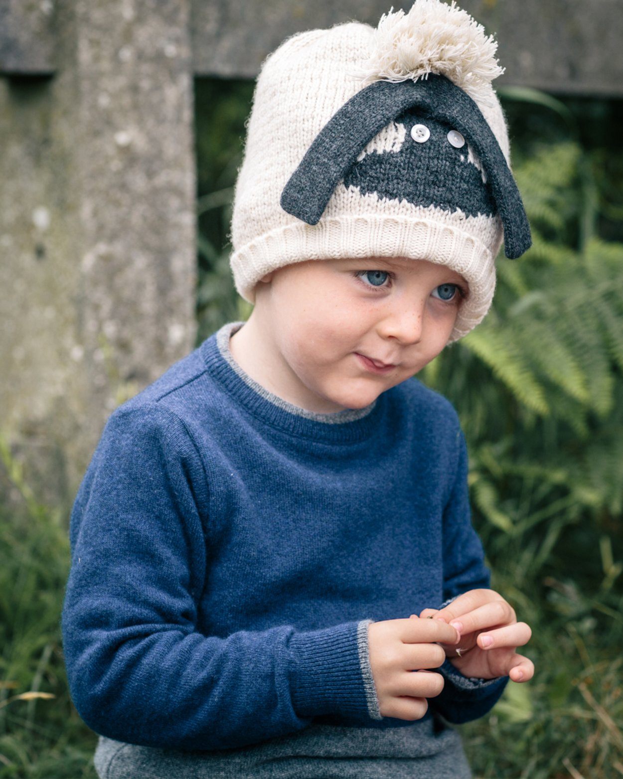 Colour Block Boy's Jumper with Striped Elbows
